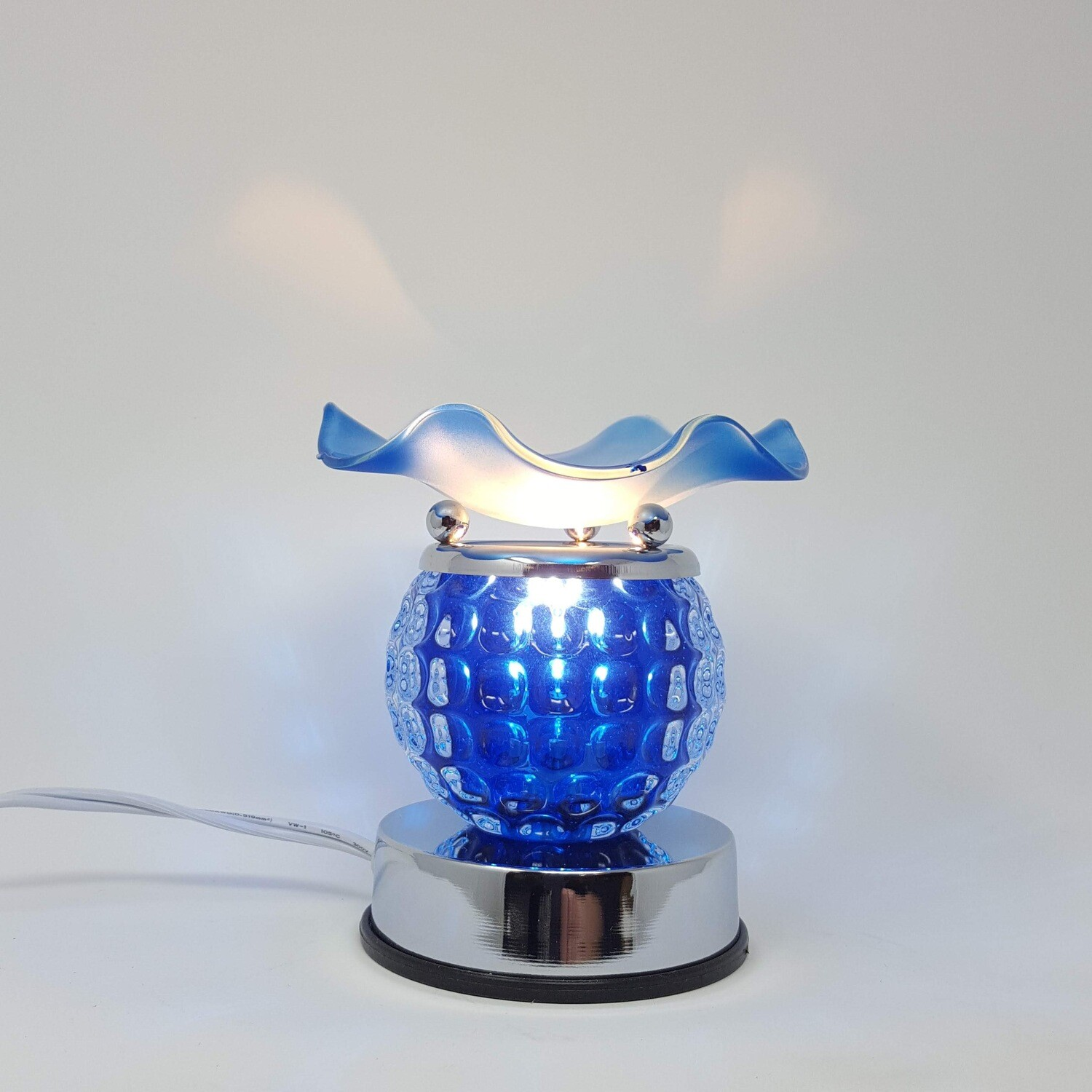 BLUE ROUND TOUCH LAMP