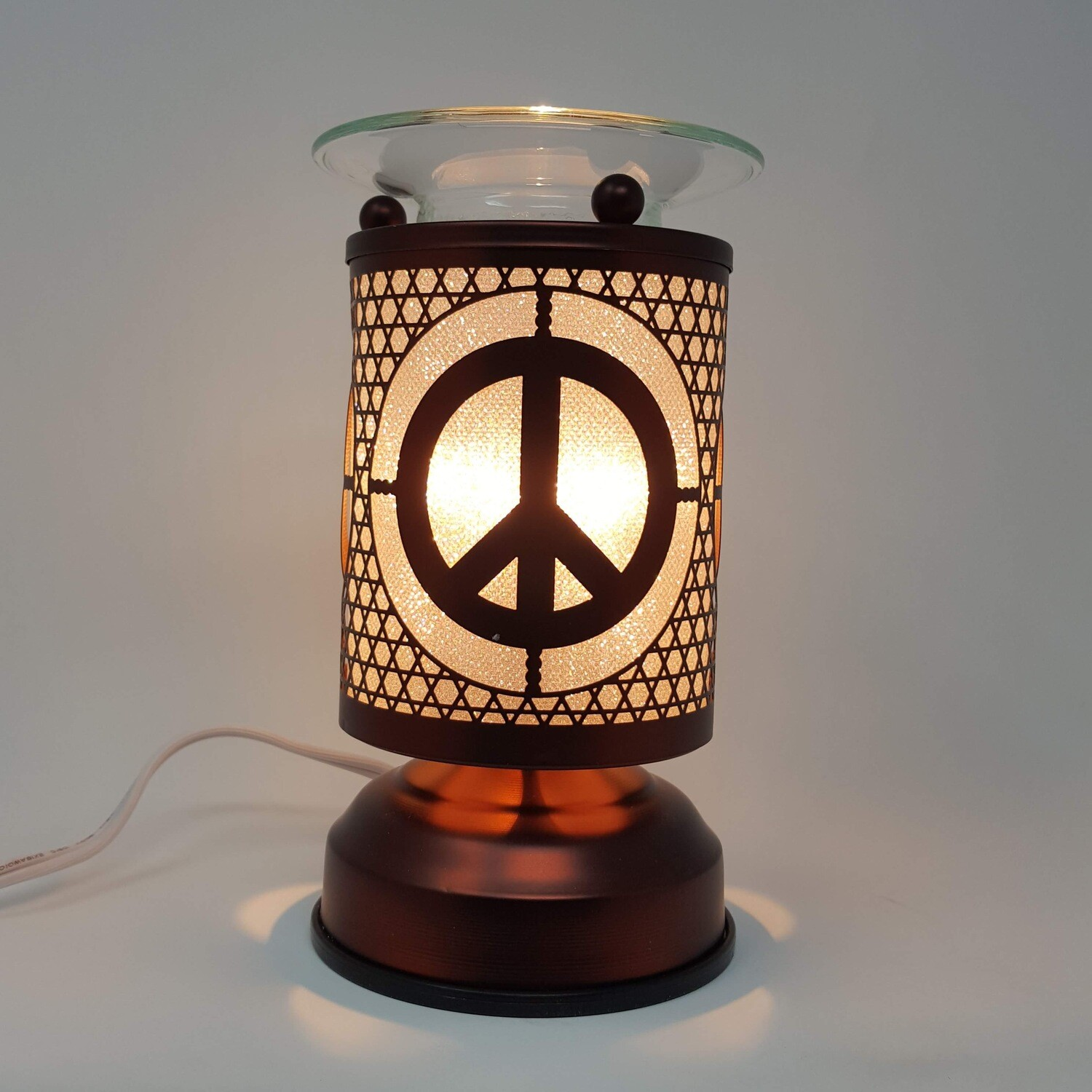 PEACE COPPER TOUCH LAMP