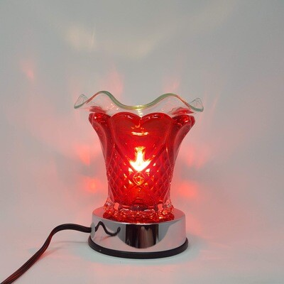 RED HEARTS SOLID TOUCH LAMP