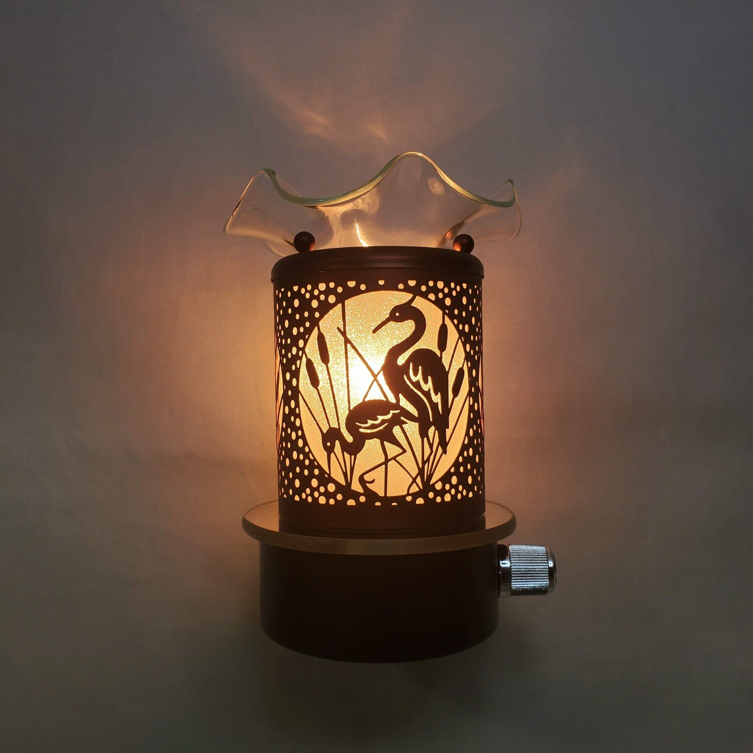 COPPER BIRDS PLUG-IN LAMP
