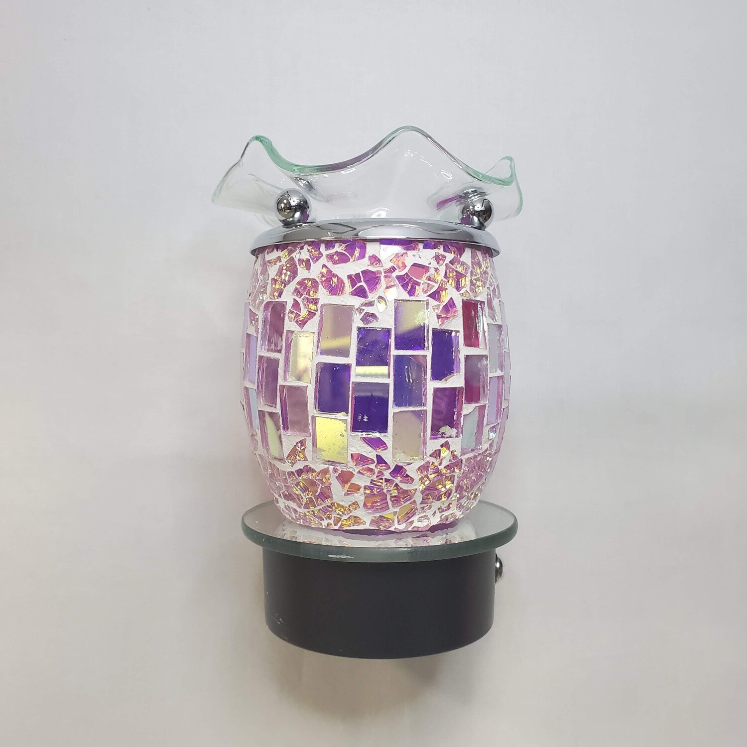 PURP MOSAIC TOUCH PLUG-IN LAMP