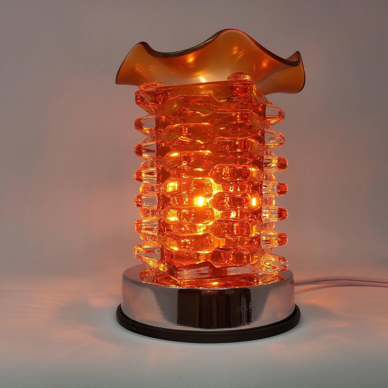 ORANGE LAYERED GLASS TOUCH LAMP