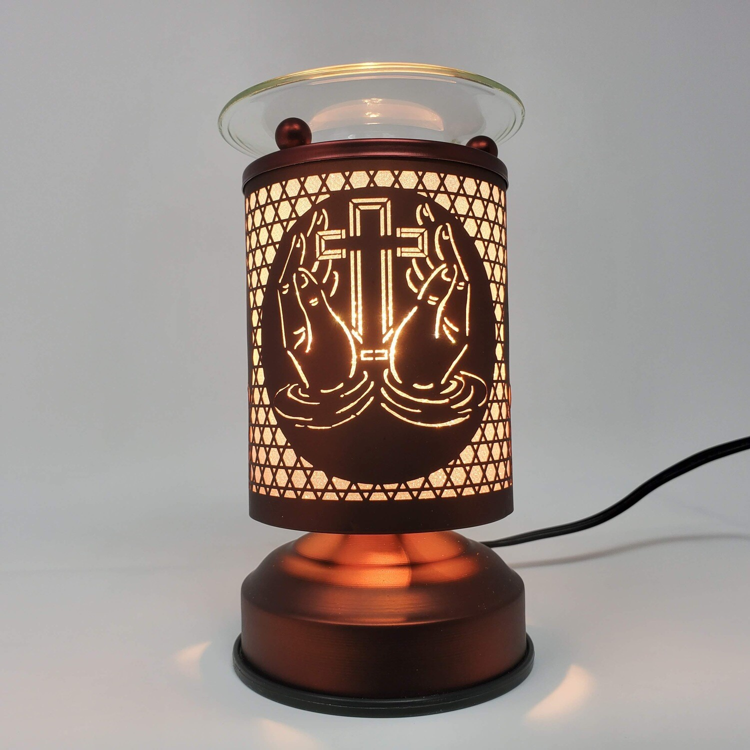 PRAYING HANDS COPPER TOUCH LAMP
