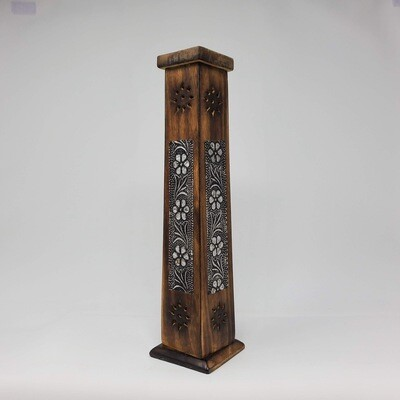 FLOWER INLAY WOOD TOWER