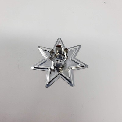 SILVER STAR CHIME CANDLE HOLDER
