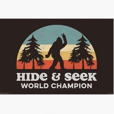 BIGFOOT HIDE AND SEEK POSTER