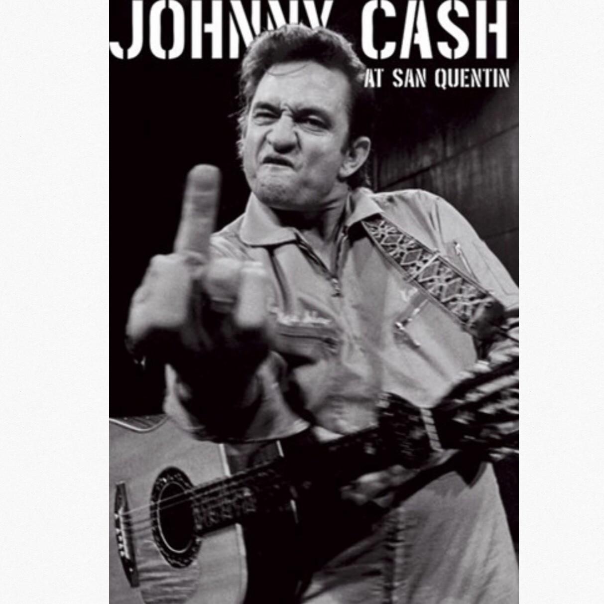 JOHNNY CASH FINGER POSTER