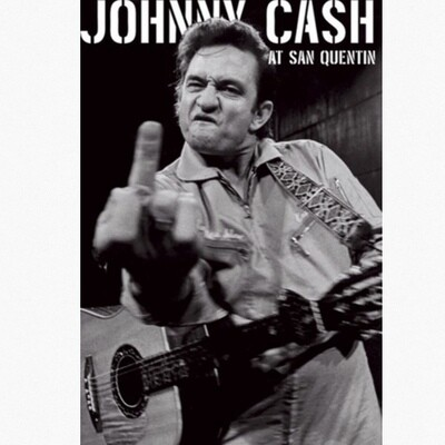 JOHNNY CASH FINGER POSTER