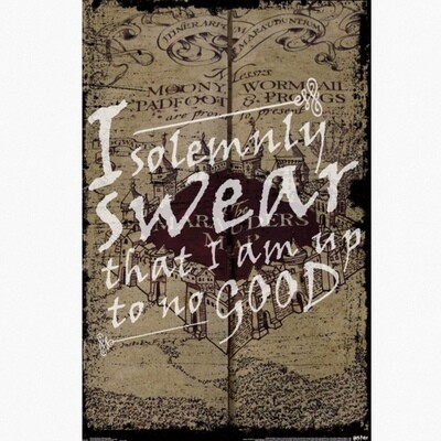 HARRY POTTER SWEAR POSTER