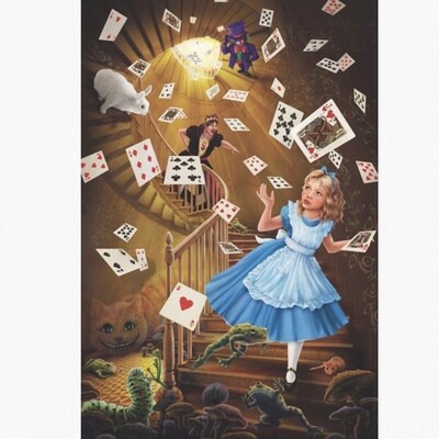 ALICE IN WONDERLAND STAIRWAY POSTER