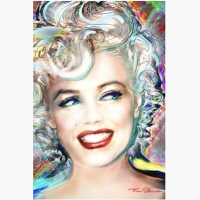 MARILYN MONROE ELECTRIC POSTER