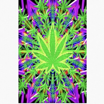 HEADY LEAF BLACKLIGHT POSTER