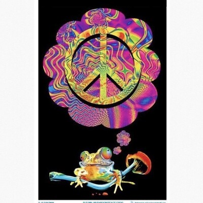 PEACE FROG BLACKLIGHT POSTER