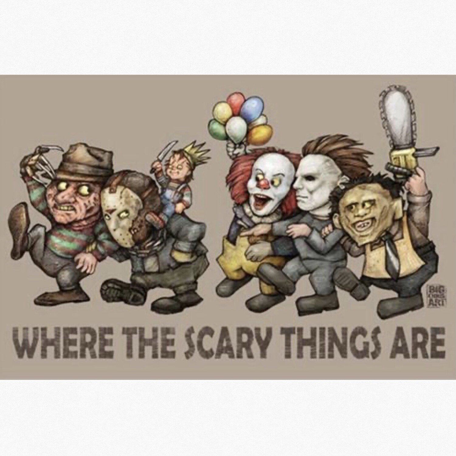 WHERE THE SCARY THINGS ARE POSTER