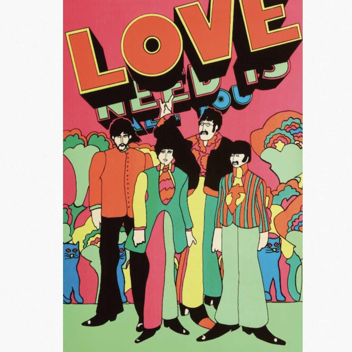THE BEATLES LOVE POSTER