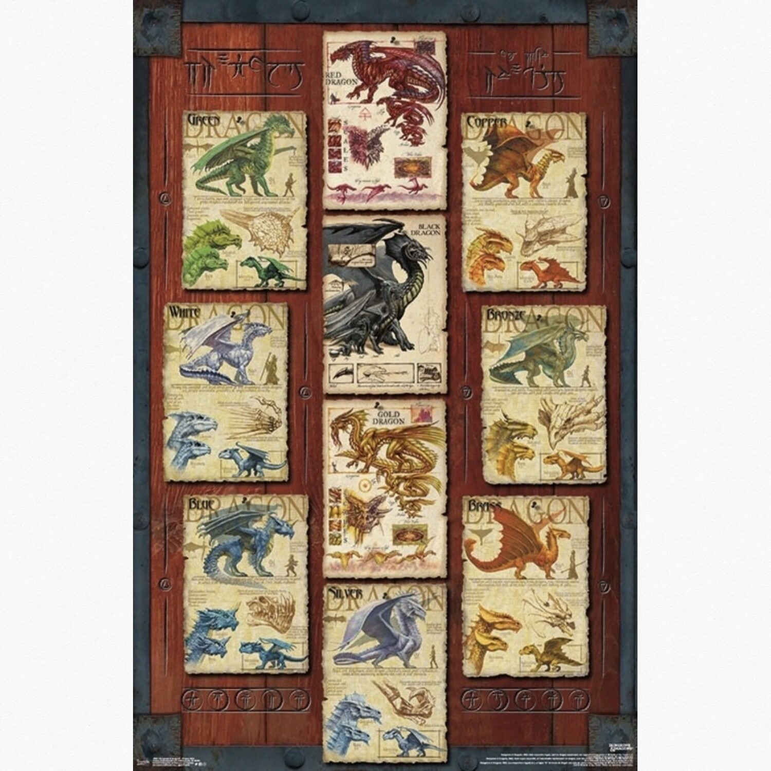 DUNGEONS & DRAGONS GRID POSTER