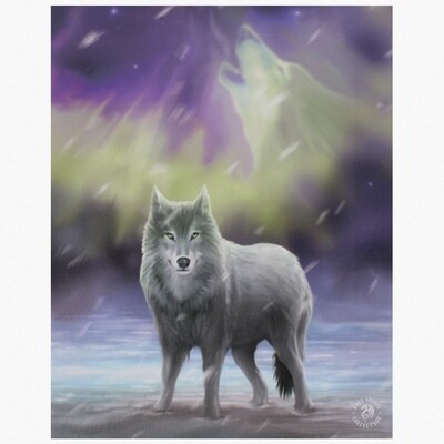 AURA WOLF CANVAS ART