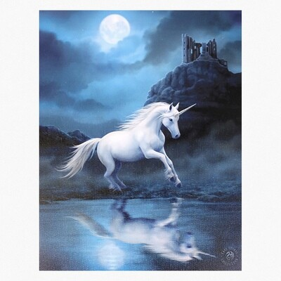 MOONLIGHT UNICORN CANVAS ART