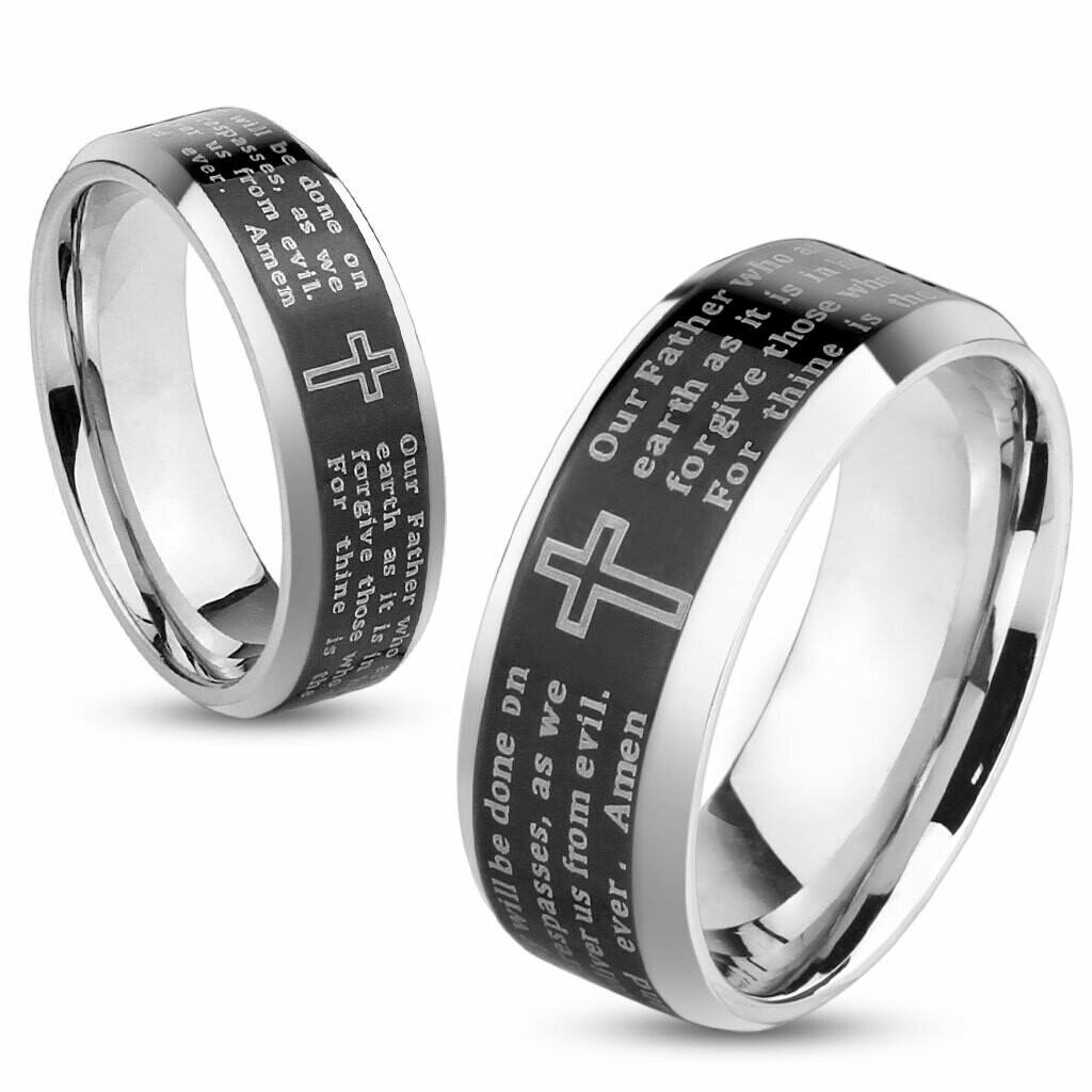 316L LORD'S PRAYER RING