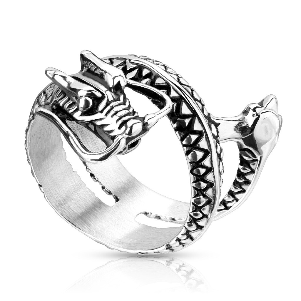 316L COILED DRAGON RING