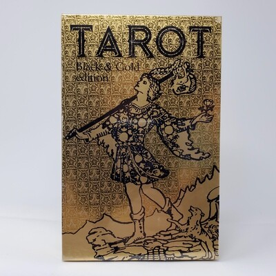 TAROT BLACK GOLD DECK AND BOOK