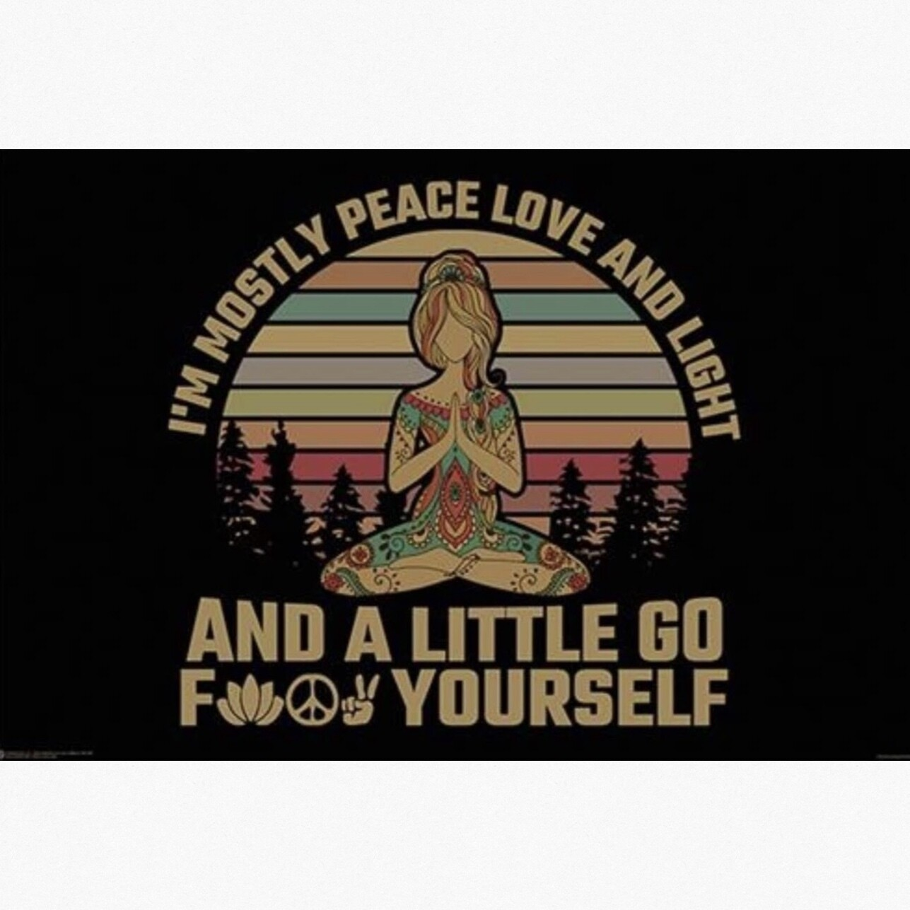 PEACE LOVE LIGHT POSTER