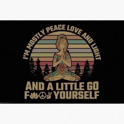 PEACE LOVE LIGHT POSTER