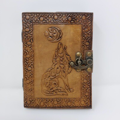 CELTIC WOLF MOON LEATHER JOURNAL