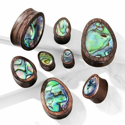 ABALONE WOOD TEAR DROPS