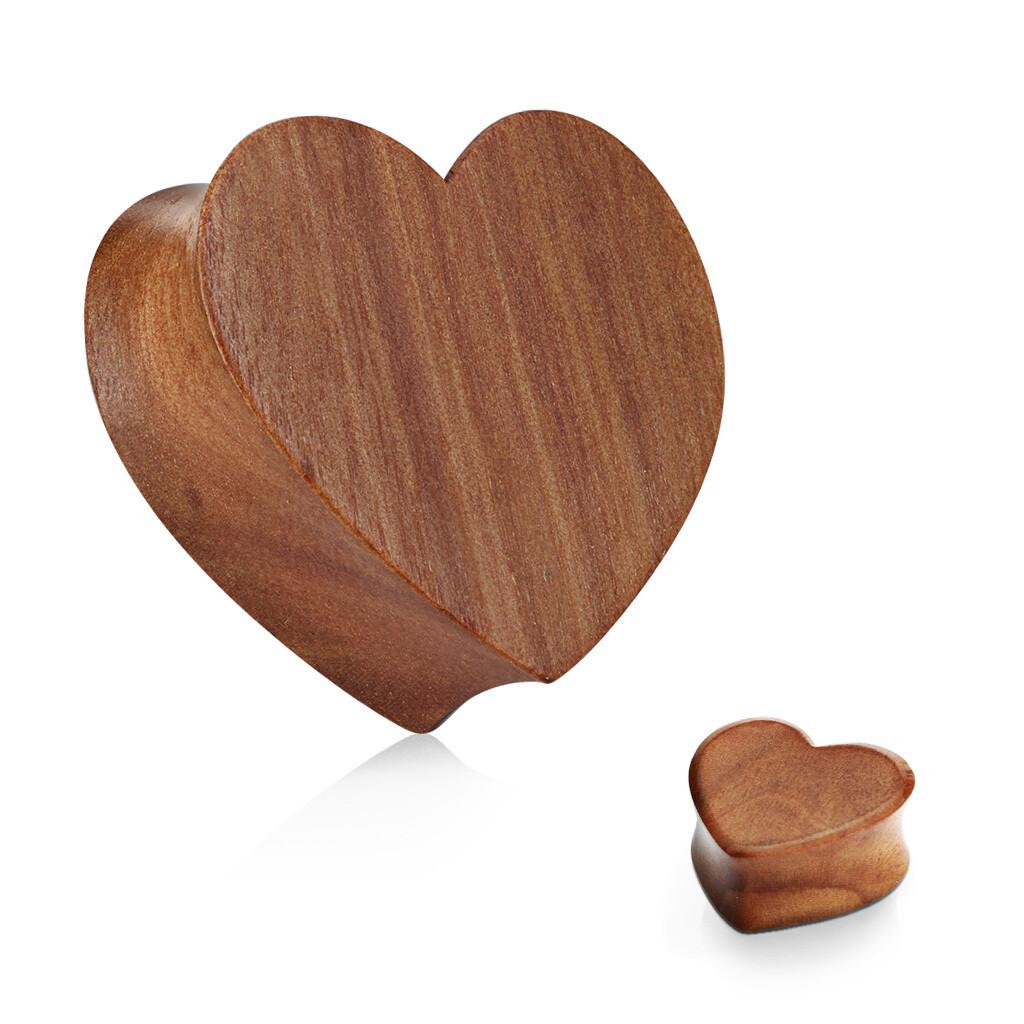 CHERRY WOOD HEART PLUGS