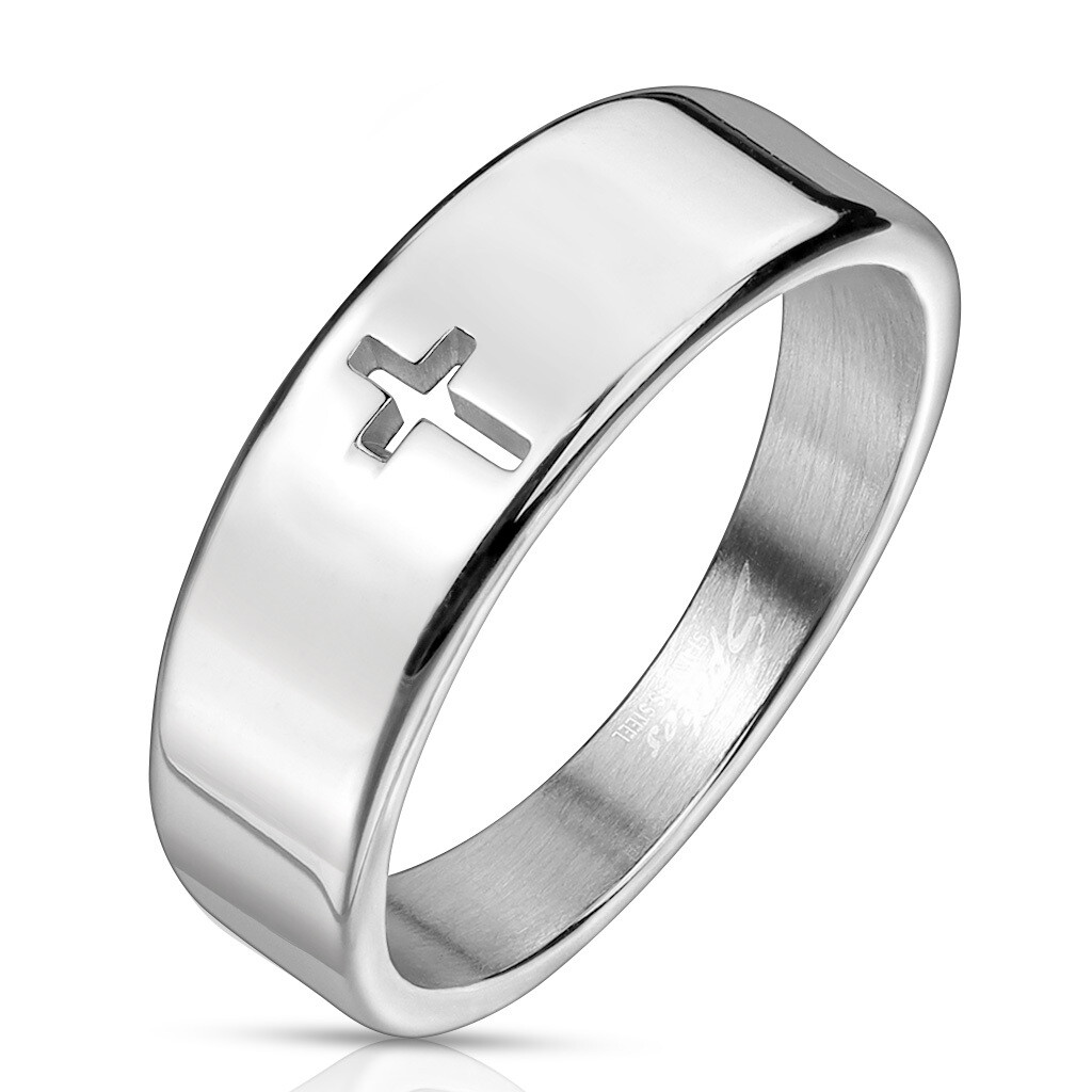 316L CROSS CUT OUT RING