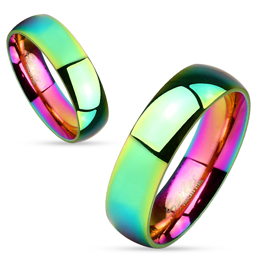 316L GLOSSY RAINBOW RING