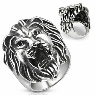 316L LION HEAD RING