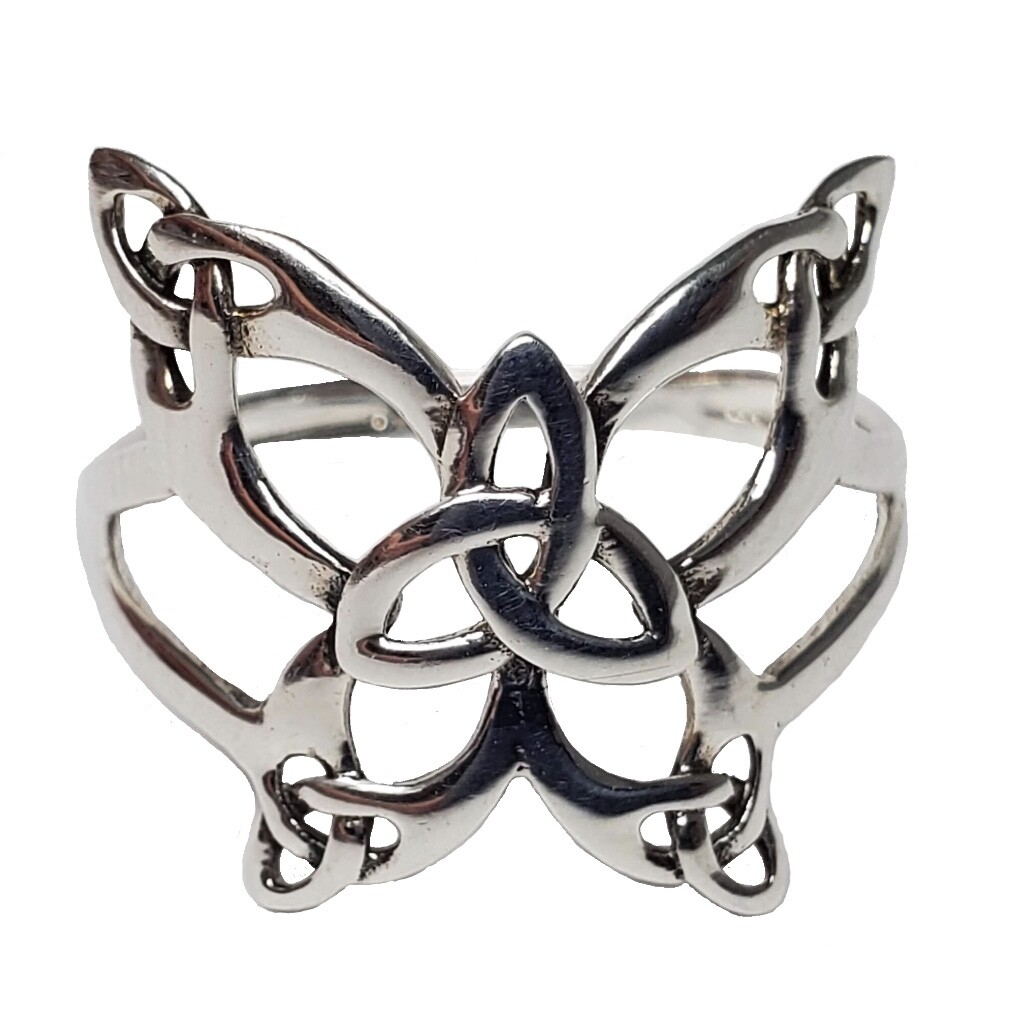 925 LG TRIQUETRA BUTTERFLY RING