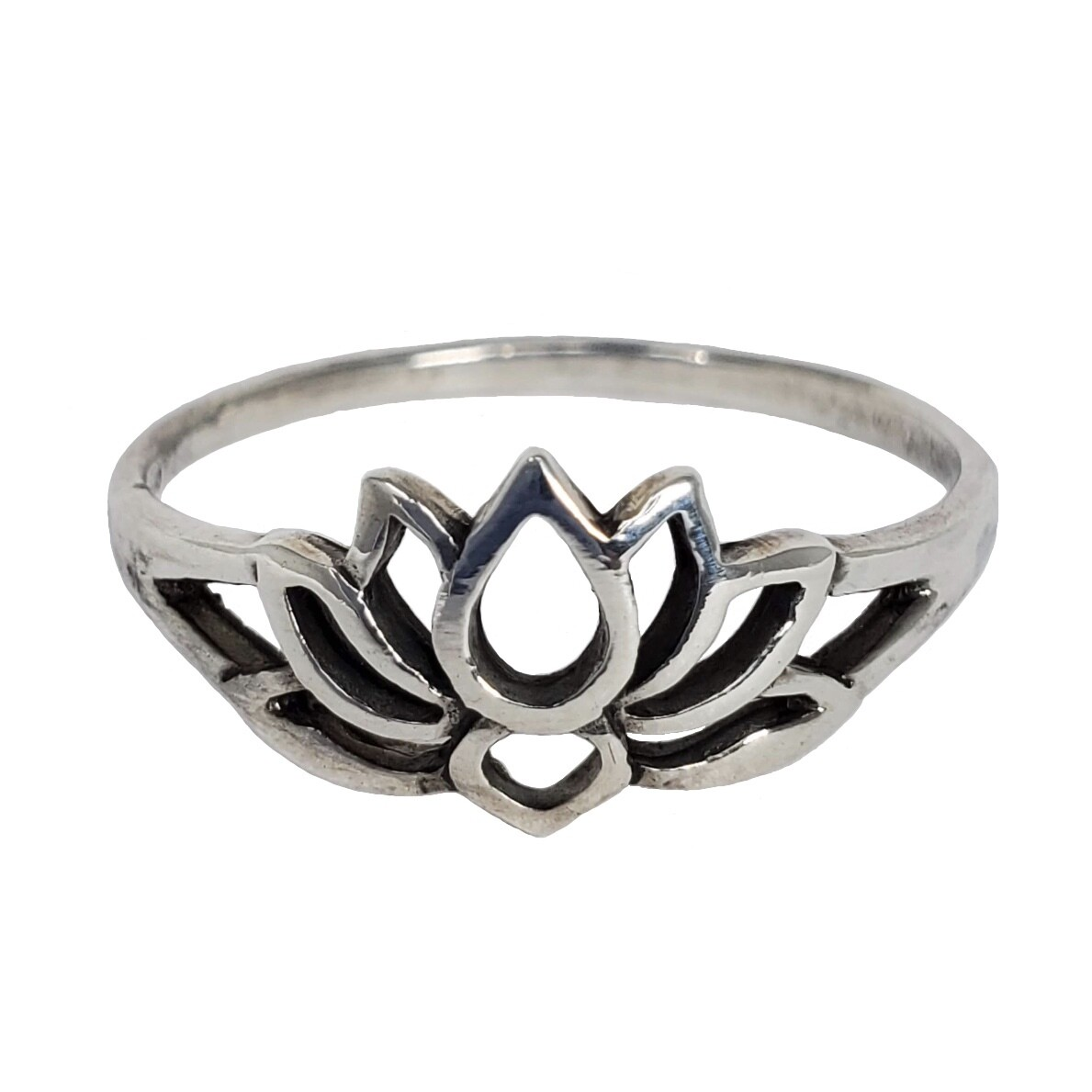 925 LOTUS SILHOUETTE RING