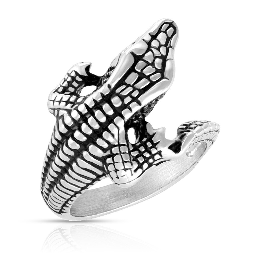 316L ALLIGATOR WRAP RING