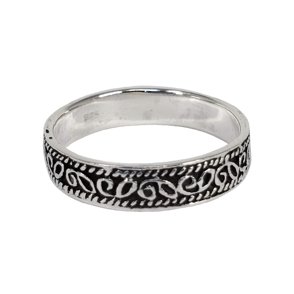 925 THIN TIBETAN FILIGREE RING
