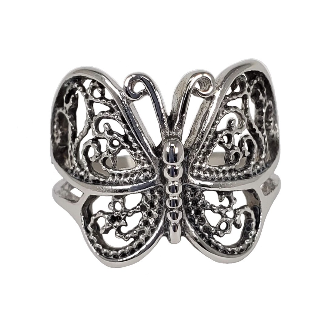 316L FILIGREE BUTTERFLY RING