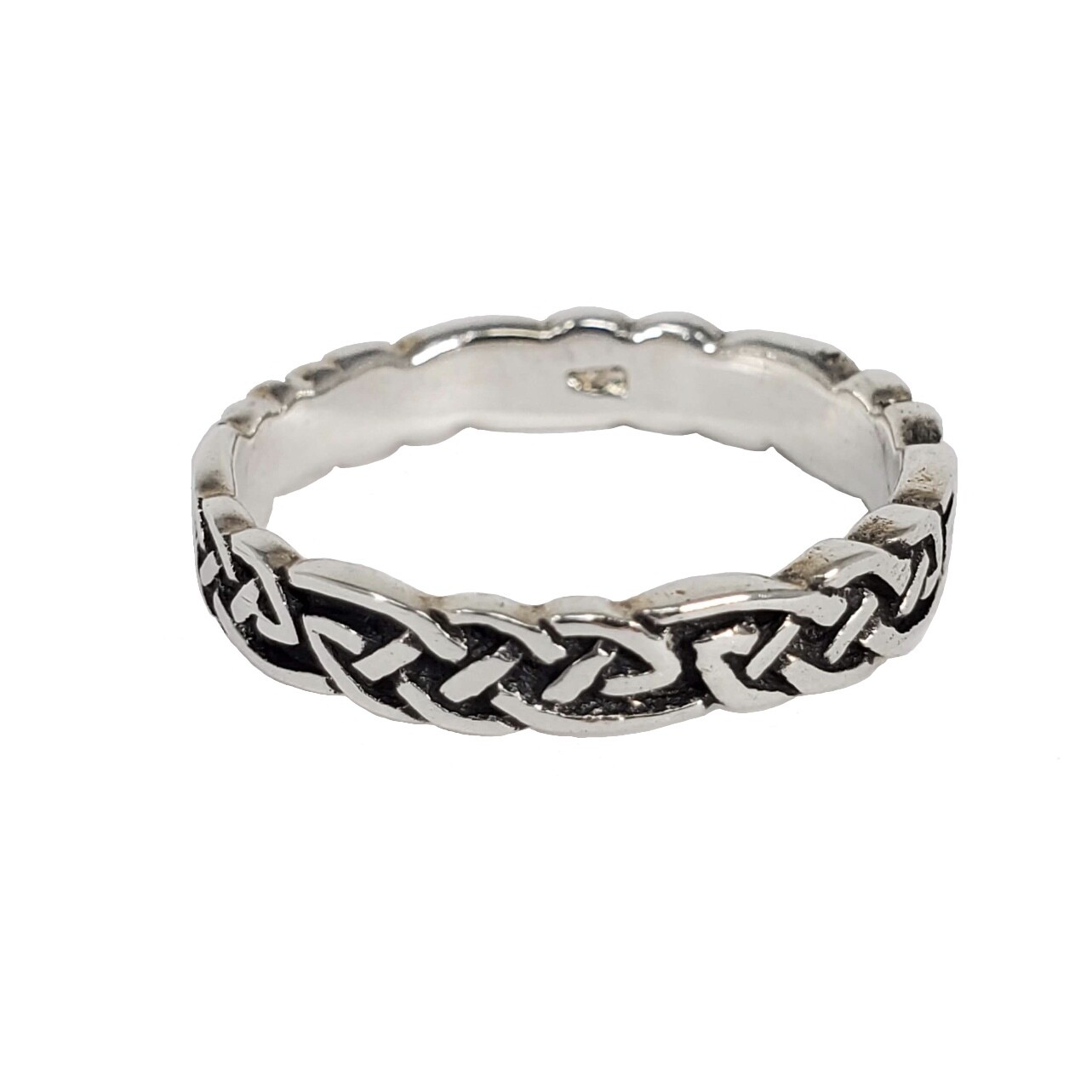 925 THIN CELTIC WEAVE RING