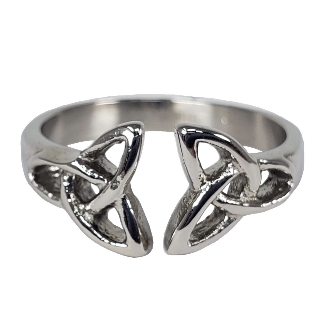 316L DUELING TRIQUETRAS RING