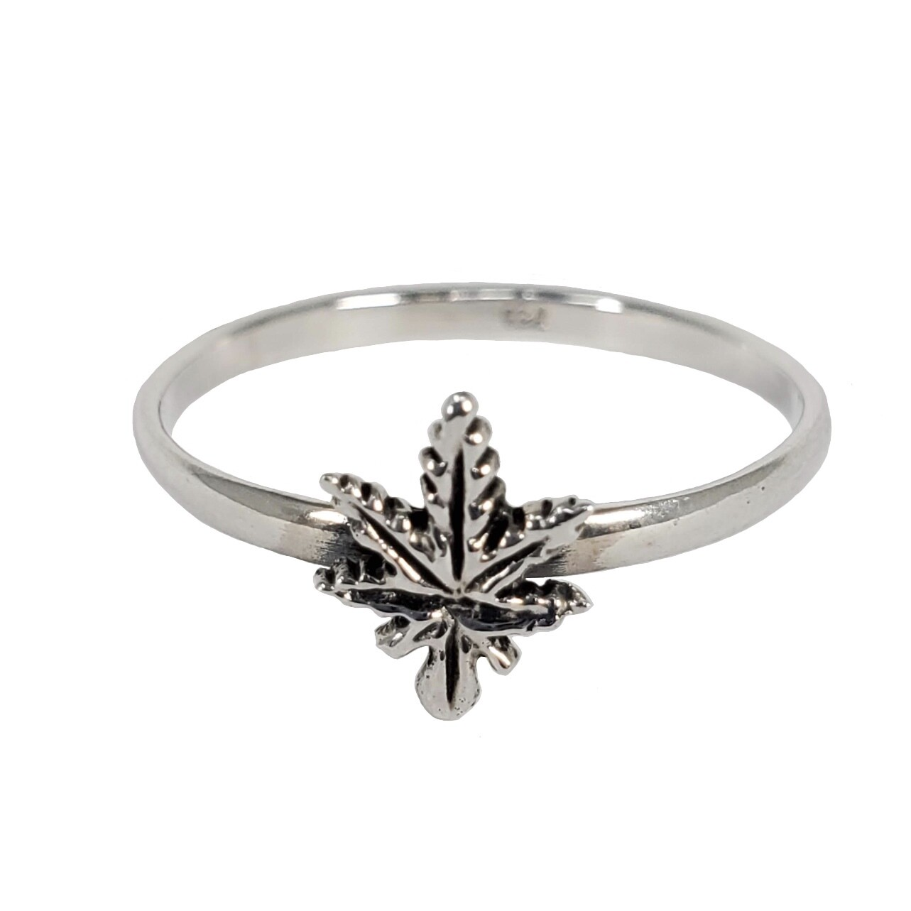 925 LEAFER SIMPLE RING