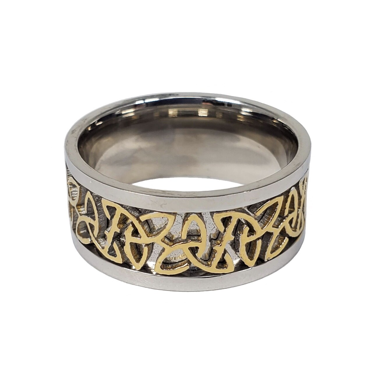 316L GOLD/SILVER TRIQUETRA RING