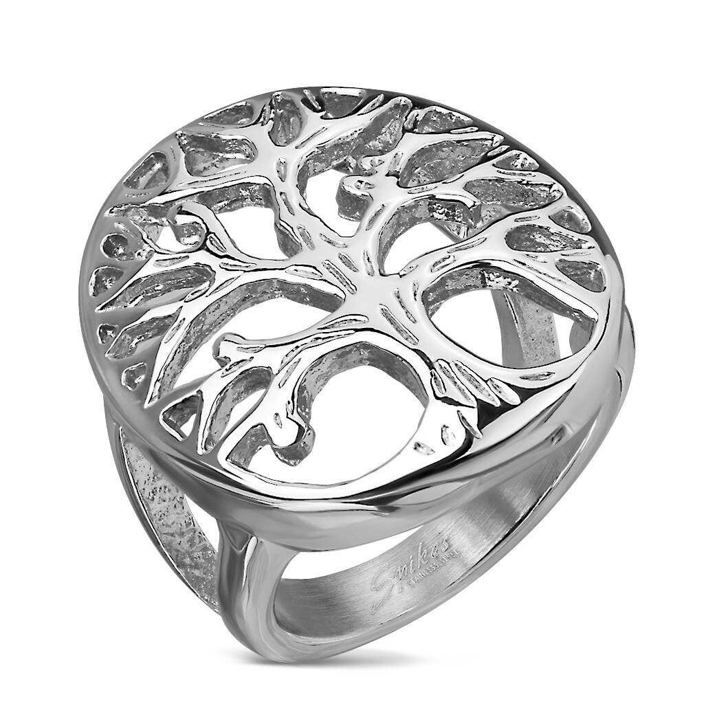 316L LG TREE OF LIFE RING