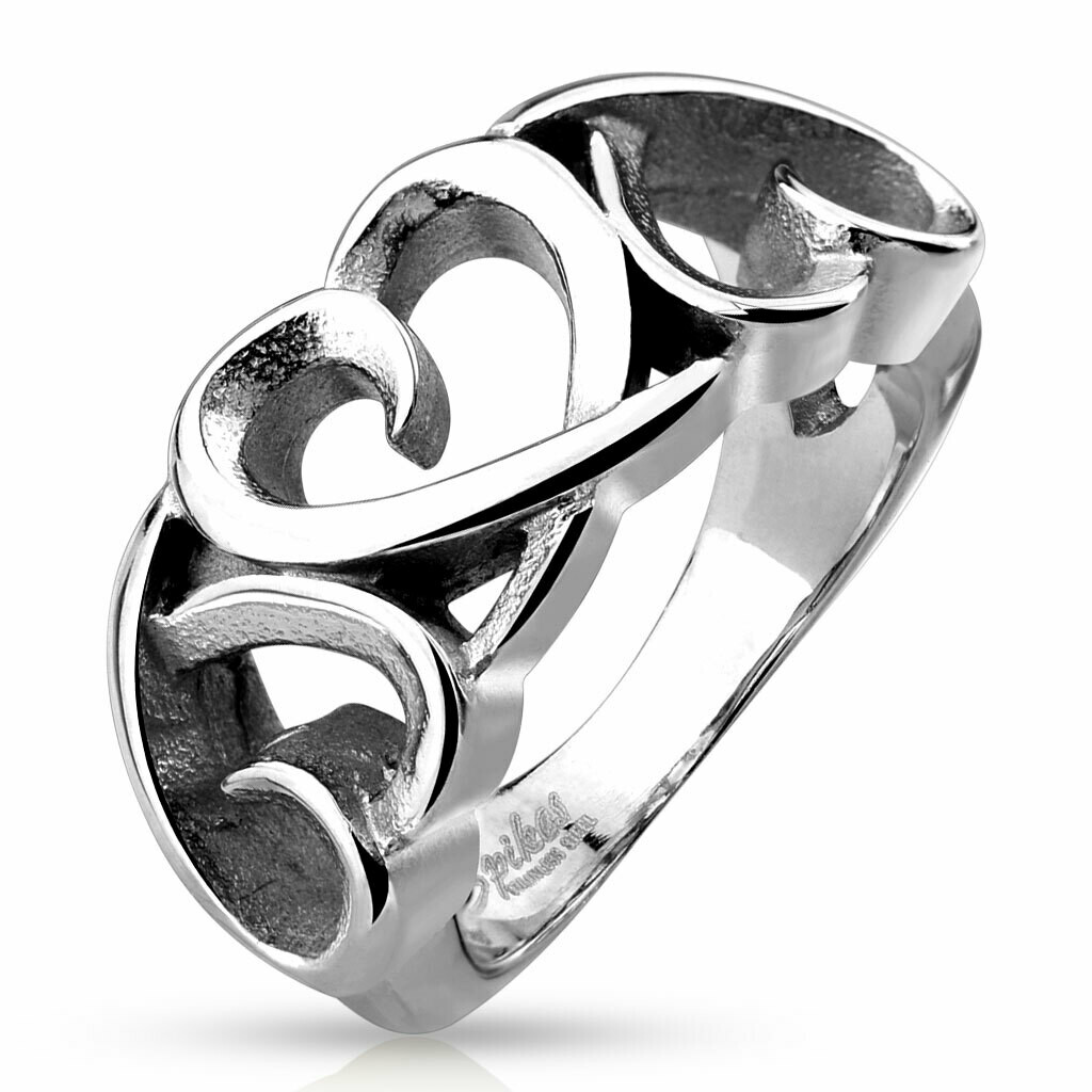316L CHUNKY HEARTS RING
