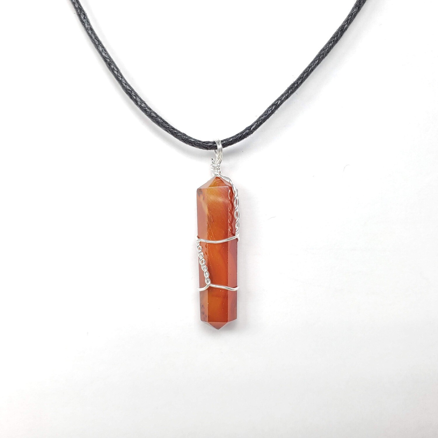 CARNELIAN WIRE WRAP NECKLACE