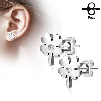 SHAMROCK STUD EARRINGS