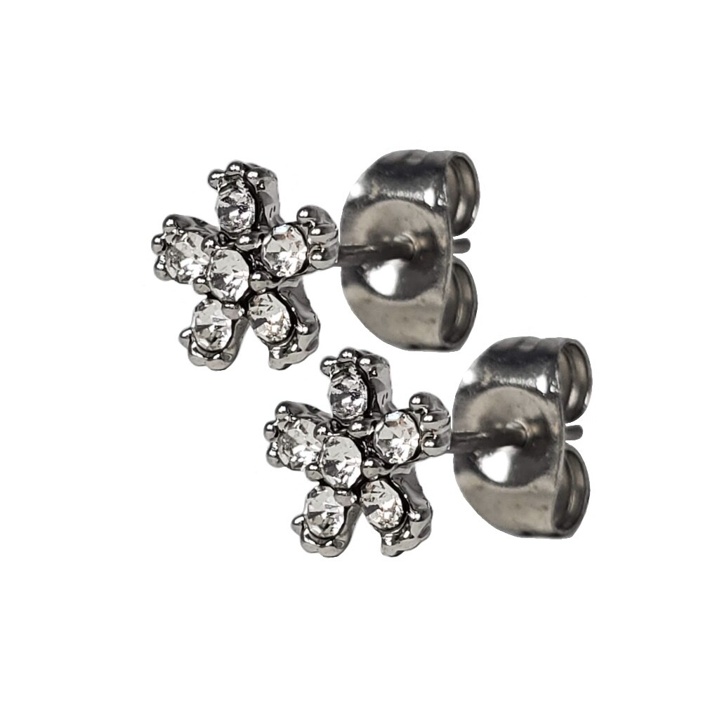 6CZ FLOWER EARRINGS