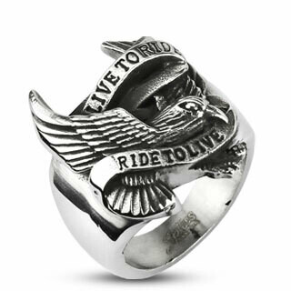 316L BIKER EAGLE RING 10