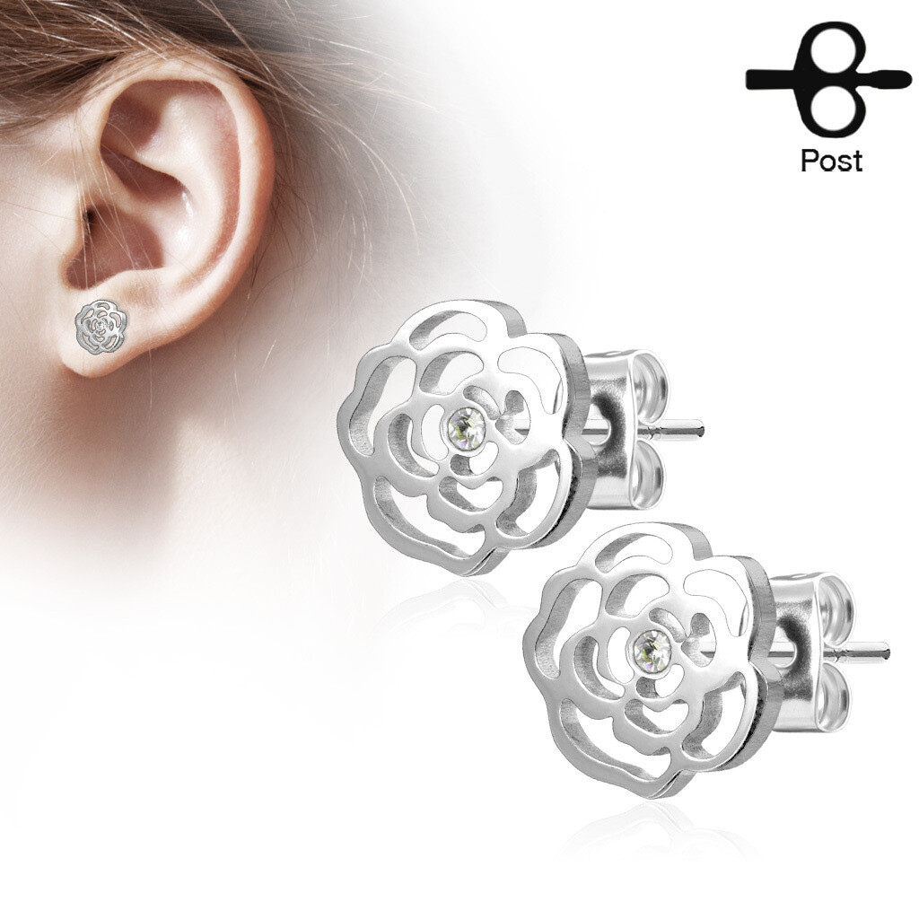 ROSE BLOSSOM STUD EARRINGS