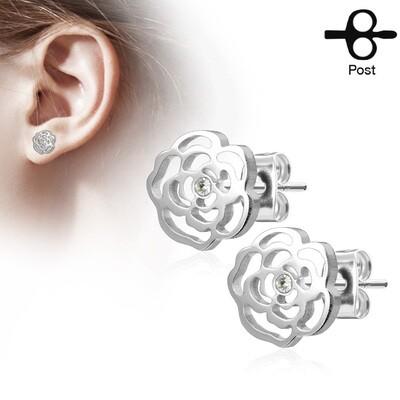 ROSE BLOSSOM STUD EARRINGS